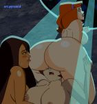 3_girls ass breasts brown_hair climbs daphne_blake embracing facesitting hanna_barbera jessica_(camp_scare) licking long_hair multiple_girls mystery_inc nude pussy pussylicking pyramid_(artist) red_hair scooby-doo scooby-doo!_camp_scare short_hair velma_dinkley yuri