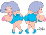 1girl 1girl ass big_breasts big_lips breasts chubby clothes erect_nipples hair happy hips josemalvado large_ass lips milf nipples panties plump pussy round_ass selma_bouvier slut the_simpsons tongue white_background whore wide_hips