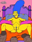 areola big_breasts brown_skin erect_nipples erection josemalvado marge_simpson nipples nude penis pussy tagme the_simpsons yellow_skin