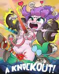 1girl 2017 ambiguous_gender blush breasts cala_maria cuphead_(character) cuphead_(game) eel english_text eyeshadow female/ambiguous_gender fish fondling forced_orgasm green_eyes group heart high_res licking lipstick long_tongue looking_pleasured m/f mermaid mugman_(character) naughty_face navel not_furry nude octopus open_mouth orgasm restrained sex tentacle tongue tongue_out video_games voyeur water weapon ガしガし