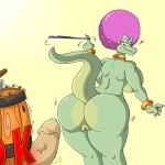 1girl 2016 anthro anus ass barrel big_ass big_breasts breasts donkey_kong_(character) donkey_kong_(series) duo erection furry huge_ass huge_breasts kalypso kremling male mammal monkey nintendo nude penis primate pussy scalie shinysteel video_games