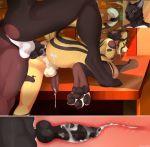 anal anal_knotting anal_penetration animal_genitalia animal_penis anthro canine canine_penis cheetah close-up cum cum_inside cutaway dog duo erection feet feline fight_(artist) furry internal knot knotting male male/male mammal nude pawpads paws penetration penis rear_view sex testicles