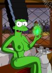 breasts green_skin marge_simpson nipples nude the_simpsons thighs vampire wvs