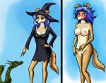 breasts dragon embarrassed_nude_female enf halloween humiliation nude pussy witch