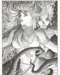 arthur_adams black_and_white princess_ariel sexy the_little_mermaid topless ursula