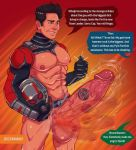 1boy abs ant-man avengers big_penis english_text erect_penis erection fat_cock fat_dick fat_penis half-dressed half_naked half_nude huge_cock huge_penis human large_penis male marvel marvel_comics muscle muscles muscular scott_lang standing