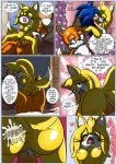 """1girl anthro anus big_breasts breasts comic cuckold cum english_text forced furry male male/female miles_""""tails""""_prower penis pussy raianonzika rape sega sonic_the_hedgehog testicles text zooey_the_fox"""
