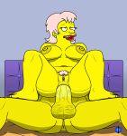 anal huge_breasts infiniteblue mrs._muntz nipples nude penis_in_ass pubic_hair pussy the_simpsons