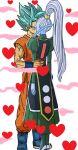 dragon_ball_super edited kissing love_hearts romantic_couple son_goku vados valentine valentine's_day