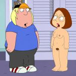 breasts chris_griffin chubby family_guy glasses meg_griffin nipples nude pubic_hair pussy thighs