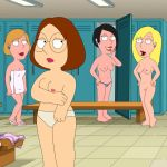 connie_d'amico family_guy glasses meg_griffin nude panties shaved_pussy thighs
