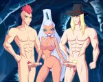 breasts double_handjob duman erection gantlos hairless_pussy handjob icy nude white_hair winx_club zfive zfive_(artist)