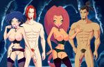 2_girls 2boys anagan breasts diana erection garter_belt hairless_pussy nebula no_panties ogron pussy stockings winx_club zfive zfive_(artist)
