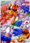 4girls blaze_the_cat comic mobius_unleashed palcomix rouge_the_bat sally_acorn sonic_the_hedgehog tikal_the_echidna