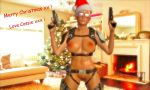 1girl 3d blonde_hair cassie_cage christmas christmas_hat christmas_lights christmas_ornaments christmas_present christmas_tree female female_human female_only fire_place games gear glasses gun hat holster human human_only legs living_room mortal_kombat mortal_kombat_x naked nude nude_female posing pubic_hair pussy pussy_lips render santa_hat solo solo_female text video_games weapon xnalara xps