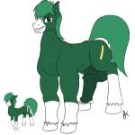 1girl appelknekten erection feral horsecock huge_balls male my_little_pony oc penis testicles
