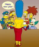 character_request flash flashing group happy_new_year homer_simpson krusty_the_clown large_marge marge marge_simpson new_year new_years new_years_eve shocked simpsons surprised tagme the_simpsons