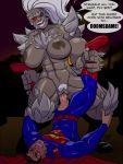 1girl aeolus amazon batman_v_superman dc_comics domination doomsday femdom genderswap male male/female superman