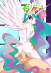 1girl anthro ass equestria_untamed friendship_is_magic girl_on_top human/anthro male_human my_little_pony palcomix princess_celestia semen sex tail vaginal vaginal_penetration wings