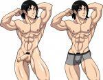 1_boy 1_human 1_male 1boy 1human 1male 1man abs ben_10 ben_10:_alien_force ben_10:_ultimate_alien human kevin_levin male muscle muscles nude penis testicle testicles underwear