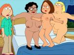 bed bedroom bouncing bouncing_breasts brother_and_sister chris_griffin consuela family_guy funny gif guido_l lois_griffin maid meg_griffin