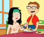american_dad brother_and_sister chewing funny gif guido_l hayley_smith kitchen steve_smith table