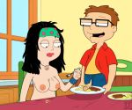 american_dad brother_and_sister chewing food funny gif guido_l hayley_smith kitchen steve_smith table