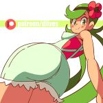 1girl :) anime ass ass_slap blush breasts clothed diives gif huge_ass looking_at_viewer looking_back mallow mallow_(pokemon) mao_(pokemon) nipples pokemon pokemon_(game) pokemon_sm pussy smile spank spanking