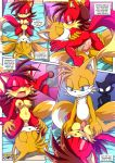 2017 2018 blaze_the_cat fiona_fox miles_prower mobius_unleashed palcomix red_fox_district_(comic)