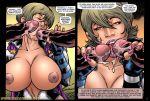 1girl 3boys comic sex superheroine susan_steel