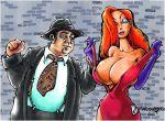 dress flashing gloves huge_breasts jessica_rabbit who_framed_roger_rabbit