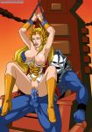 boots breasts dress exposed_breasts handcuffs hordak masters_of_the_universe no_panties palcomix sex she-ra she-ra_princess_of_power torn_dress vaginal vaginal_penetration