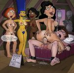 american_dad bobby_luv bonnie_swanson crossover donna_tubbs family_guy lois_griffin marge_simpson milf money orgasm roger_smith sex sperm steve_smith the_cleveland_show the_simpsons