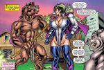 1girl bestiality breasts comic penis superheroine susan_steel