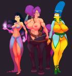 amy_wong big_breasts big_breasts centaur futurama marge_simpson milf pbrown the_simpsons turanga_leela