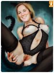 blonde cat_costume kes slut smile sweet_josephine wife