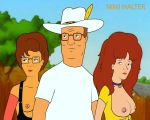 breasts erect_nipples glasses hank_hill king_of_the_hill peggy_hill tammi_duvall topless