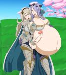 big_breasts big_penis big_testicles breasts camilla cleavage corrin cum cum_on_stomach female fire_emblem fire_emblem_fates futanari penis pregnant spooky-gh0st spooky-gh0st_(artist) testicles yuri