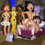 american_dad bobby_luv bonnie_swanson breasts crossover cum erect_nipples erection family_guy marge_simpson penetration pussy steve_smith the_simpsons