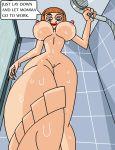 ass big_ass big_breasts breasts danny_fenton danny_phantom dboy gif hot incest insanely_hot madeline_fenton milf mother_&_son nipples sexy shower
