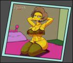 1girl breasts cydlock edna_krabappel nipples the_simpsons