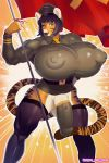 1girl anthro baojun big_breasts big_penis breasts clothing cock_warmer dickgirl feline furry huge_breasts huge_penis hyper hyper_breasts intersex legwear looking_at_viewer makeup mammal nipple_bulge penis quickdraw standing stockings tiger tight_clothing uniform voluptuous xin_huang