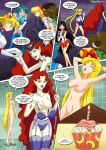 2girls1tub 6girls aino_minako ami_mizuno ass big_breasts bishoujo_senshi_sailor_moon black_hair blonde_hair blue_eyes blue_hair breasts breasts_outside brown_hair chuchu3535 clothes_ripped comic earrings gloves hino_rei kino_makoto lipstick makoto_kino minako_aino mizuno_ami nipples nude pussy queen_beryl red_eyes red_hair red_high_heels rei_hino sailor_jupiter sailor_mars sailor_mercury sailor_moon sailor_venus shower skirt tsukino_usagi usagi_tsukino