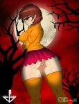 ass big_breasts glasses miniskirt scooby_doo shaved_pussy stockings velma_dinkley