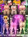 areolae ass big_ass big_breasts bleach breasts ecchi-enzo_(artist) female hikifune_kirio kirio_hikifune nipples retsu_unohana rtenzo_(artist) senjumaru_shutara shutara_senjumaru stripper stripper_pole topless unohana_retsu