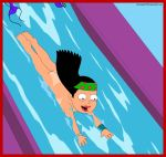 american_dad ass bikini_malfunction hayley_smith nude tan_line water_slide