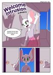 2018 anthro clothed clothing comic cover cover_page crossdressing door english_text fur furry girly green_eyes male mammal mouse pink_skirt reggie_(whygena) rodent skirt text white_fur whygena