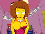 looking_at_viewer maude_flanders nipple one_breast_out the_simpsons
