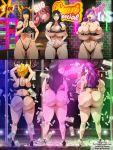 ass big_ass big_breasts bleach breasts cleavage ecchi-enzo_(artist) female hikifune_kirio kirio_hikifune retsu_unohana rtenzo_(artist) senjumaru_shutara shutara_senjumaru stripper stripper_pole underboob unohana_retsu