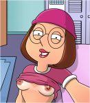 badbrains breasts edit family_guy glasses hat meg_griffin nipples selfpic topless